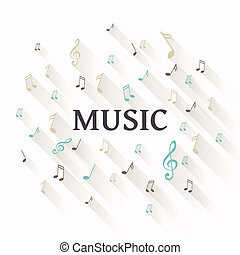 Vector Abstract Music Background