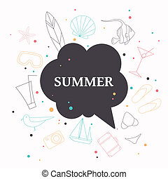 Vector Summer Vacation Icons
