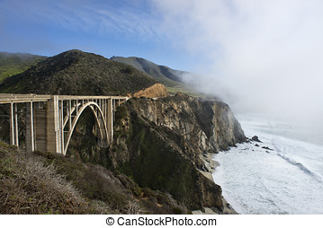 Bixby Bridge - Beautiful Bixby Bridge, Big Sur, California,...