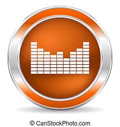 sound icon - web glossy icon