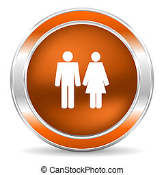 couple icon - web glossy icon