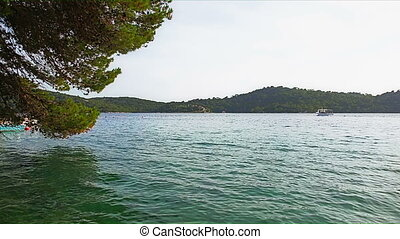 Island Mljet - Small island on the lake inside the biger...