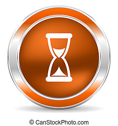 time icon - web glossy icon