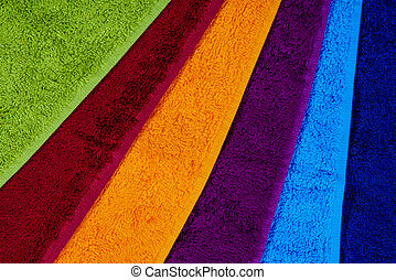 Bathroom towels - background colorfull varicolored towels