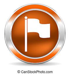 flag icon - web glossy icon