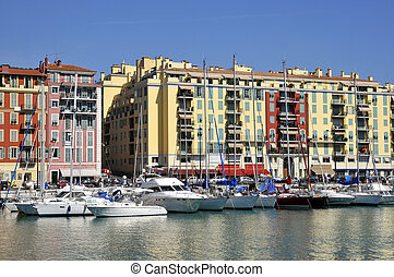 Port de Nice in France - Port of Nice in southeastern...