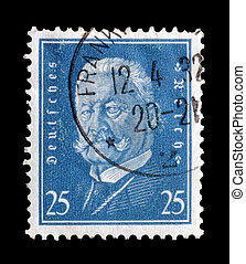 Reich stamp 1928 - Postage stamp printed by Germany 1928...