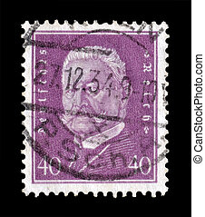 Hindenburg stamp 1928 - Postage stamp printed by Germany...