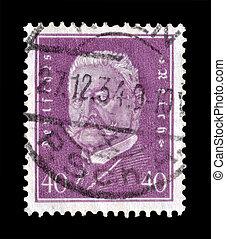 Hindenburg stamp 1928 - Postage stamp printed by Germany...