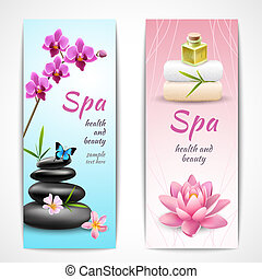 Spa vertical banners - Spa beauty health care vertical...