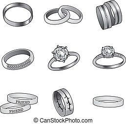Black And White Rings
