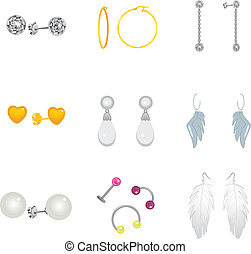 Earrings Collection Set