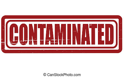 Contaminated - Stamp with word contaminated inside, vector...