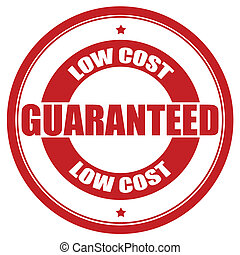 Low cost guaranteed - Stamp with text low cost guaranteed...