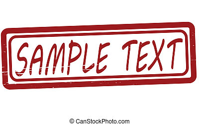 Sample text - Stamp with text sample text inside, vector...