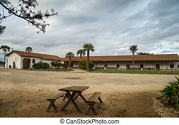 Mission Soledad buidling - view of the outside building of...