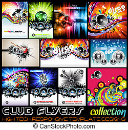 Stunnig Disco Club Flyers collecton with a lot of different...