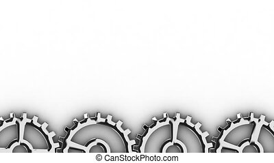 Rotating gearwheels - seamless loop - Rotating gearwheels at...