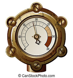 steampunk style - the measuring device in the steampunk...