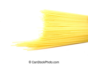 Noodles isolated on a white background