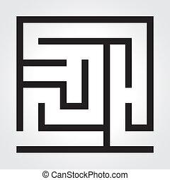 Black labyrinth. Vector illustration. Business concept. eps 10