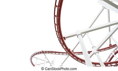 Roller coaster - PATHUMTHANI - APRIL 6: Dream World, Roller...