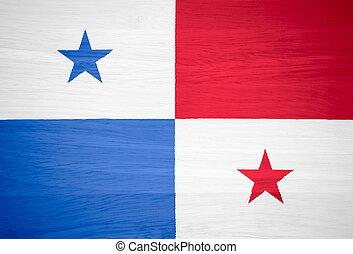 Panamá, bandera, madera, textura