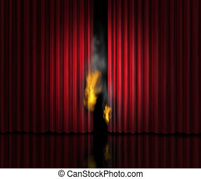 Hot Show - Hot show entertainment concept as a theatre stage...
