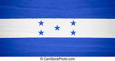 bandera, madera,  honduras, textura