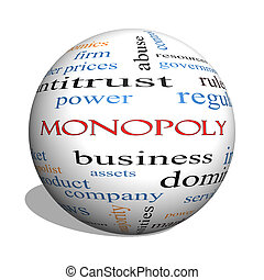 Monopoly 3D sphere Word Cloud Concept with great terms such...