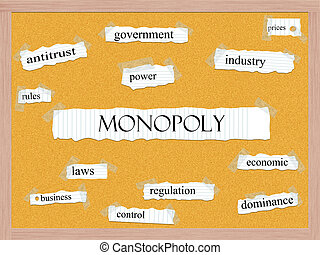 Monopoly Corkboard Word Concept with great terms such as...