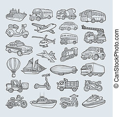 Transportation Icons Sketch - Transportation icons...