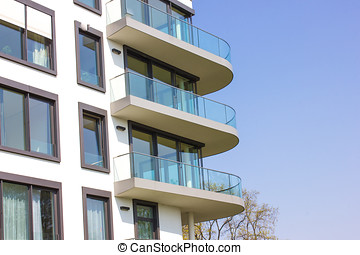 Modern Apartment Block in Berlin Germany