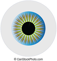Iris - A multicoloured eye isolated over a white background