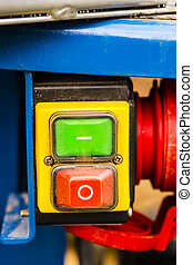 red green power button switch