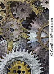 relógio, Engrenagens, cogs, fundo