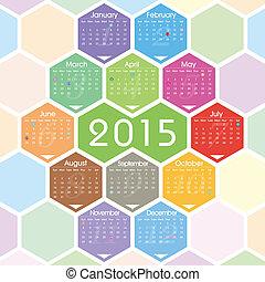Vector 2015 calendar