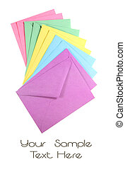 Colorful Envelopes - Stack of multi colored envelops...