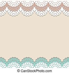 Seamless lace vector background for invitation, menu, coffee...