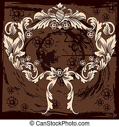 Classic Floral Decoration, editable vector illustration