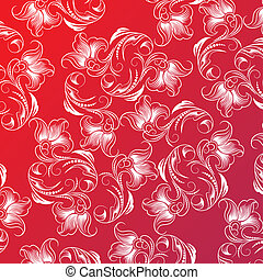 Floral Pattern Design, editable vector illustration