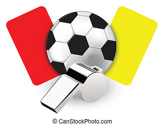 Referee Whistle and Cards