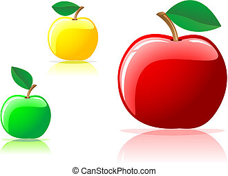 appetizing apples - Colorful appetizing apples