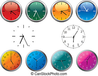 Office clocks - Isolated clocks