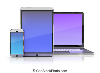 electronic devices - Electronic devices. Smartphone, tablet...