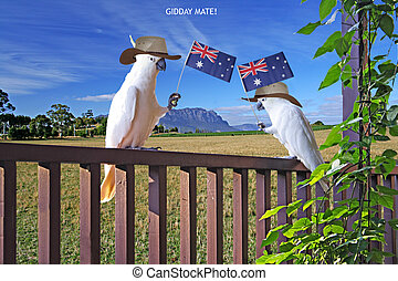 Aussie Patriotic Cockies - Gidday Mate