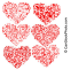 Set of pencil hearts for your design. EPS 10