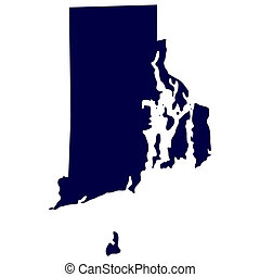 US state of Rhode Island - map of the US state of Rhode...