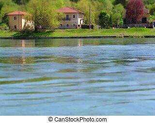 Ticino river in tilt-shift timelapse