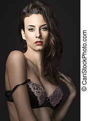 sensual woman in bra lingerie - young beautiful sexy girl...